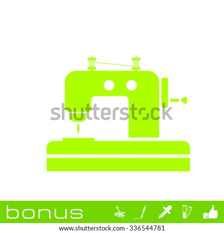 Sewing Machine icon - stock vector