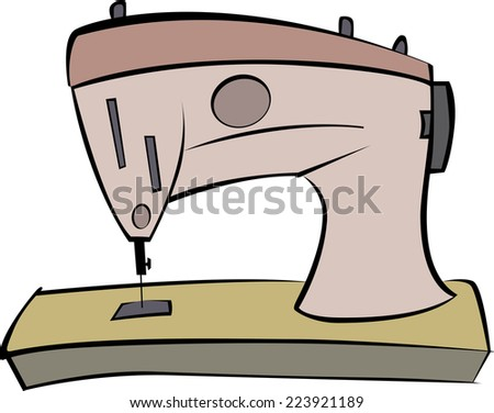Sewing Machine vector illustration  - stock vector