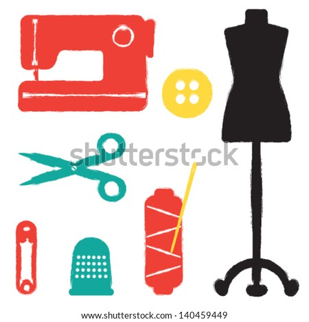Sewing set - stock vector