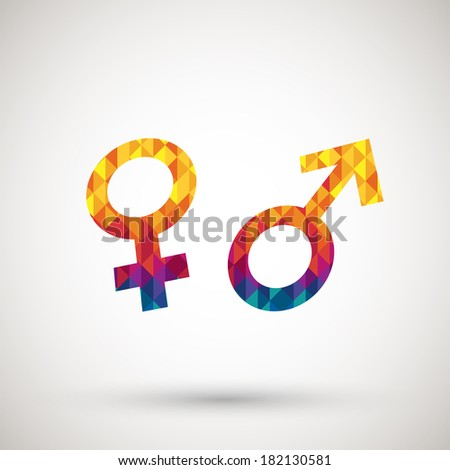 sex icon with colorful diamond - stock vector