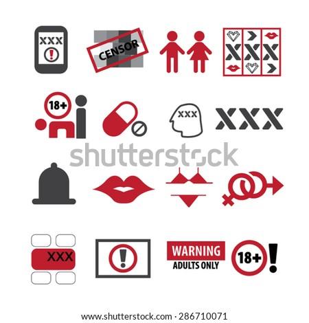 Sex icons set,Vector - stock vector