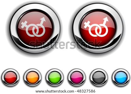 Sex realistic buttons. Vector illustration.