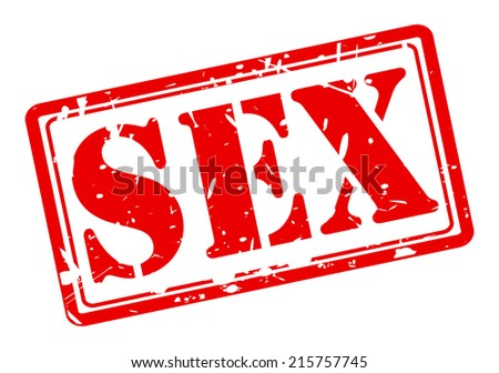 Sex red stamp text on white - stock vector