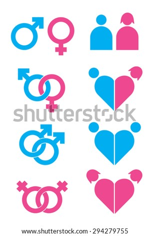 Sexuality icons set - stock vector