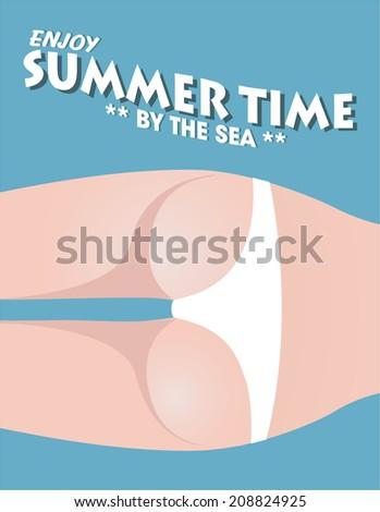 Sexy body. summer concept - stock vector