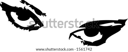 Sexy eyes, easy to scale - stock vector