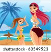 sexy lady cartoon - stock vector