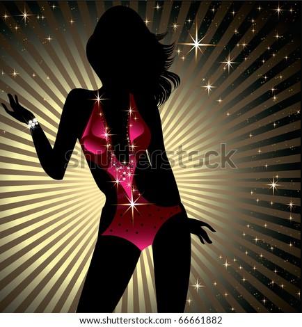 Sexy party girl - stock vector