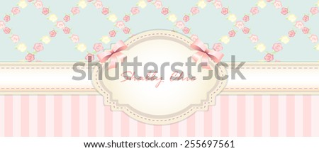 shabby chic. congratulations card. 2 swatches - stock vector
