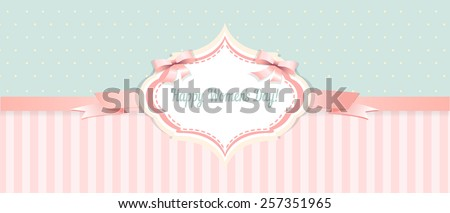shabby chic. congratulations card. womens day - stock vector