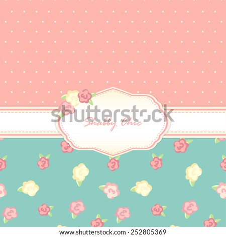 shabby chic. provence style. background. card - stock vector