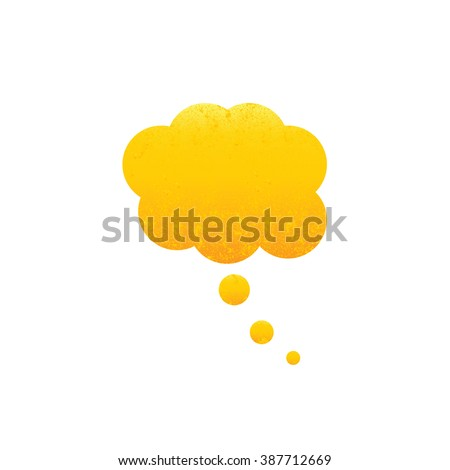Shabby golden dream bubble isolated on white background. Vintage design element - stock vector