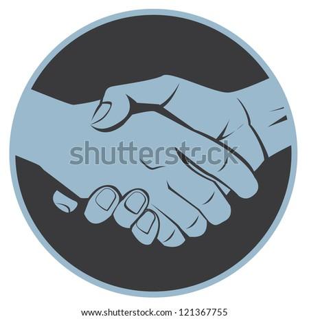 shake a hand - stock vector