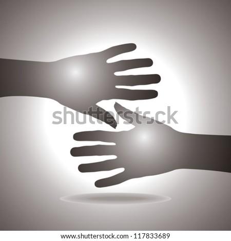 shake hands - stock vector