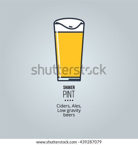 shaker pint glass icon