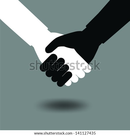 Shaking hand operation symbol. Business concept. Vector illustration