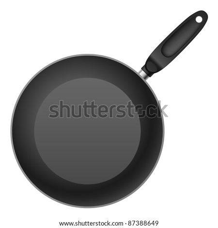 shallow frying pan. Illustration on white background - stock vector