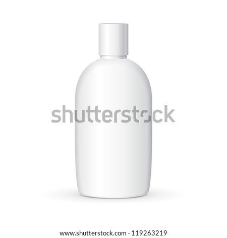 Shampoo Plastic Bottle On White Background Isolated. Ready For Your Design. Product Packing Vector EPS10 - stock vector