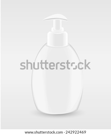 Shampoo spray vector artwork  - stock vector