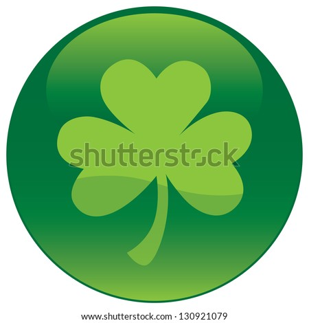 Shamrock with tree leaf icon - Vector file - stock vector