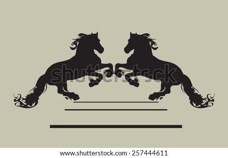 shape of horse - stock vector