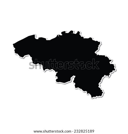Shape of the Country of  Belgium