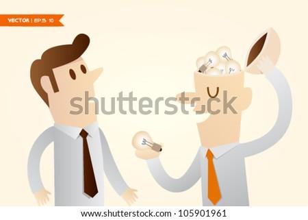 Share Ideas - stock vector