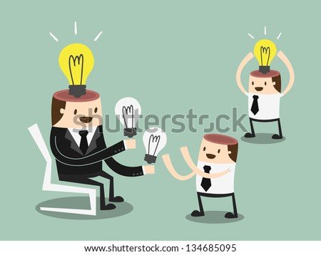 Share Ideas - stock vector