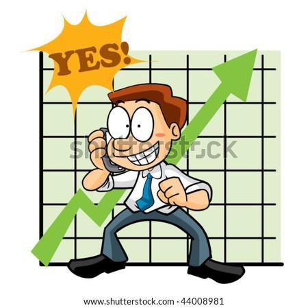 share market agent - stock vector