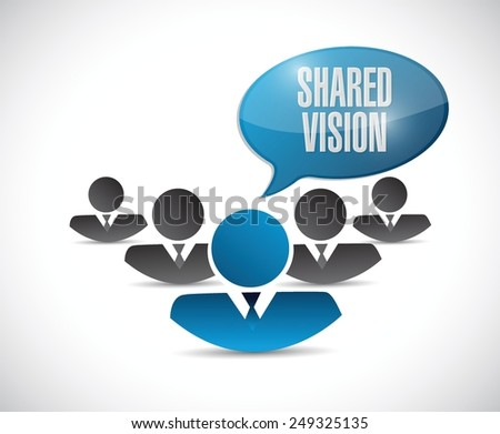 shared vision people communication illustration design over a white background - stock vector