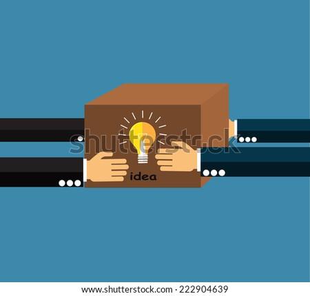 Sharing Ideas  - stock vector