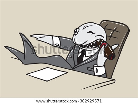 Shark Bank business sitting in a chair giving orders