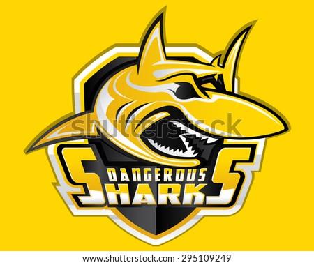 Shark Shield Sport Logo Vector - stock vector
