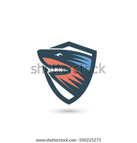 Shark text symbol