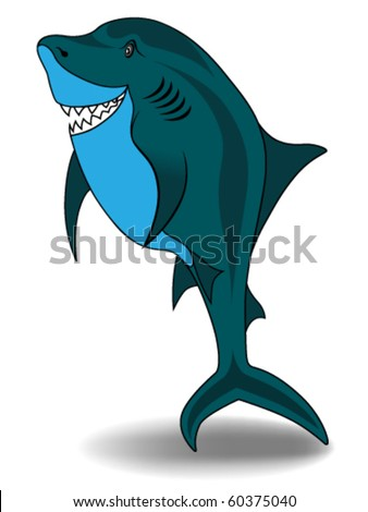 Shark vector illustration isolated on white background