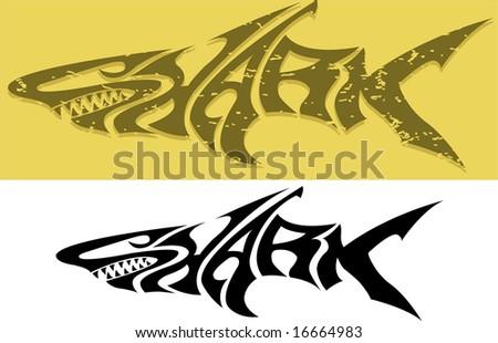 Sharky - stock vector