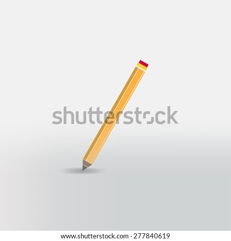 sharp pencil icon - stock vector