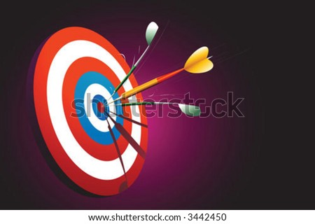 Sharp shooter shoot at a bullseye