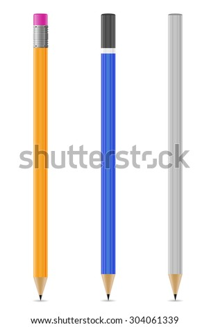 sharpened pencils vector illustration isolated on white background