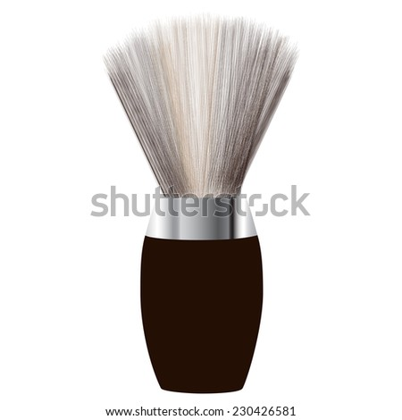 Shave brush, shaving brush vector, shaving brush icon