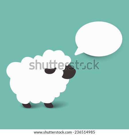 Sheep cartoon vector illustration - stock vector