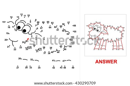 sheep dot game connect all dots starting at 1 up to 68 and you