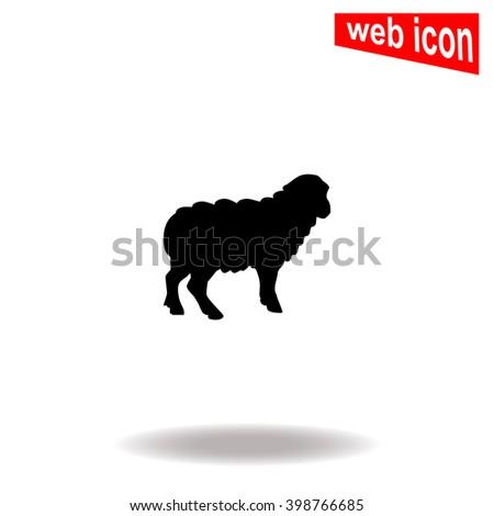 Sheep icon. Sheep icon vector. Sheep icon illustration. Sheep icon web. Sheep icon Eps10. Sheep icon image. Sheep icon logo. Sheep icon sign. Sheep icon art. Sheep icon flat. Sheep icon design. - stock vector