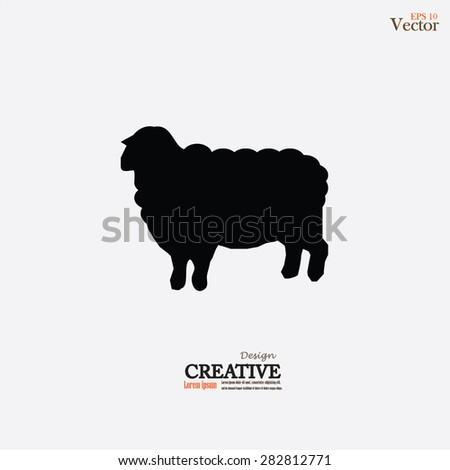 Sheep icon.sheep.vector illustration. - stock vector
