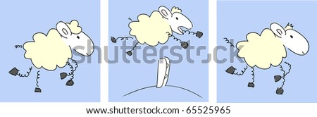 Sheep - vector. - stock vector