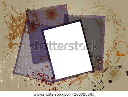 sheet film negatives, picture frames. free copy space, grungy vector - stock vector