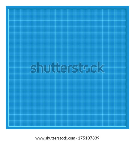 Sheet of blueprint paper. - stock vector