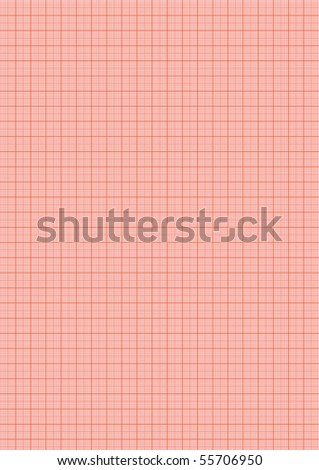 sheet of graph paper - stock vector