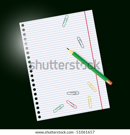 Sheet of paper and pencil