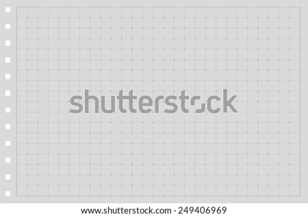 Sheet of paper grid notebook in graph style. Template plotting paper background similar to paper. Eps10 vector illustration - stock vector